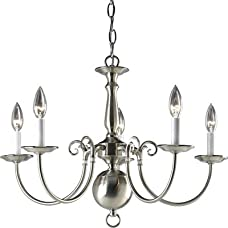 Americana Candle Chandelier in Brushed Nickel