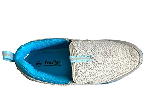 pompe on Air Teal Tech ragazze donna slip taglie mocassini sneaker Gry Donna less scarpe peso q10w8
