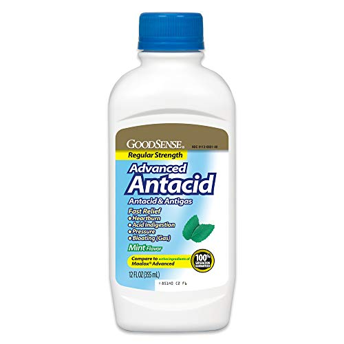 GoodSense Regular Strength Advanced Antacid, Heartburn & Acid Indigestion, Antacid Mint Flavor