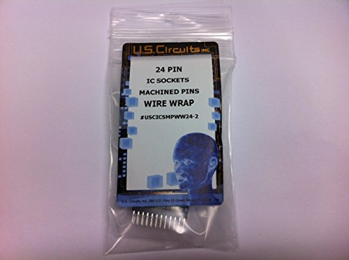 (U.S.Circuits 24 Pin Wire Wrap IC SOCKETS Machined Pins 2 Pack)