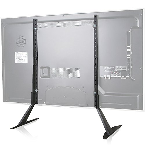 WALI Universal TV Stand Table Top for Most 22 to 65 inch LCD Flat Screen TV, VESA up to 800 by 400mm (TVS001), Black