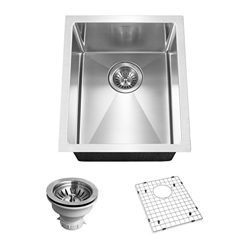 Houzer CNB-1200 Savoir Series 10mm Radius Undermount Prep Bowl Kitchen Sink, Stainless Steel