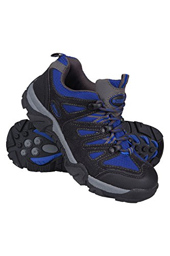 Image of Mountain Warehouse Cannonball Kids Walking Shoes –Durable Hiking Shoes Cobalt 6 Child US