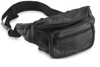 Maxam Italian Mosaic Genuine Lambskin Leather Belt Bag Five Different Zippered Areas, Outdoor Stuffs