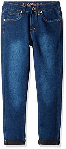 U.S. Polo Assn. Big Girls' Super Soft Stretch Denim Capri Pant, Blue Wash, (Girls Embroidered Denim Capri Pants)
