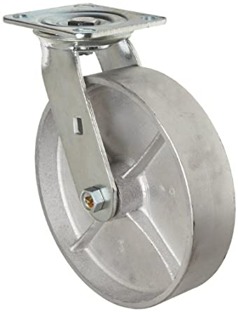 RWM Casters 46 Series Plate Caster, Swivel, Cast Iron Wheel