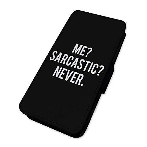 sarcastico divertente scherzo–Flip cover in pelle cover Apple Iphone 7 Plus