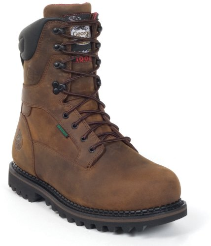 Georgia Boot Men's G8362 9'' Arctic Toe ST Waterproof Boots,Deer Brown,11.5 D US