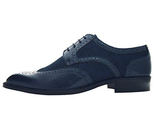 Bolano Mens Visgraat & Twill Wingtip Brogue Oxford Dress Schoenen Stijlen Keller, Thoreau Marine