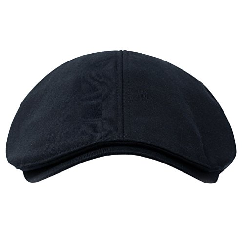 - ililily Cotton Flat Cap Cabbie Hat Gatsby Ivy Cap Irish Hunting Hat Newsboy (flatcap-004-10)
