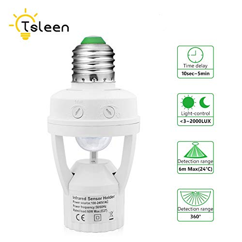 Motion Light Socket Outdoor in US - 9