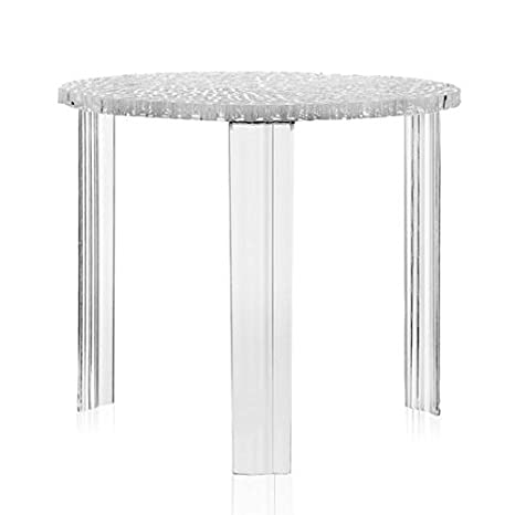 Kartell T-Table Tavolino, Cristallo, 50ⵁx44 cm: Amazon.it: Casa e ...