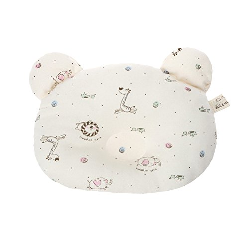 Organic Baby Pillow - Head Shaping Newborn Pillow for Sleeping -Prevent Flat Head Syndrome (NewAnimal) by WithOrganic