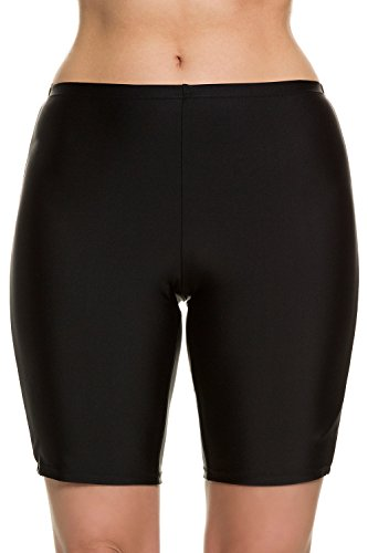 Ulla Popken Women's Plus Size Supportive Extra Cover Long Swim Shorts Black 26 698609 10