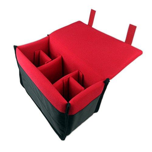 Drf Dslr Camera Case Insert Padded Liner Nylon Pouch For Messenger Bag Or Backpack  Red
