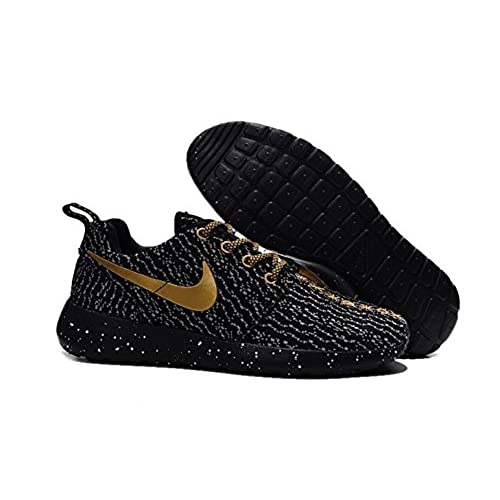 save off f427c 3f0fd Nike Roshe Run Mens Gold Black Sports Running Shoes durable ...
