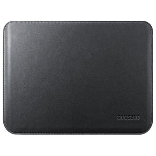Simply Silver - New Samsung Galaxy Tab 10.1'' BLACK Leather Pouch Travel Case 1B1LBECXAR