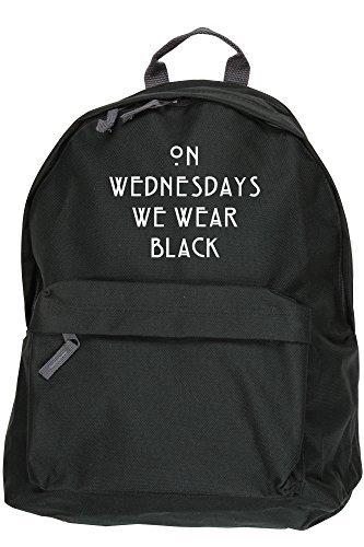 c36bc13309ae HippoWarehouse ON WEDNESDAYS WE WEAR BLACK backpack ruck sack Dimensions   31 x 42 x 21 cm Capacity  18 litres  Amazon.co.uk  Clothing