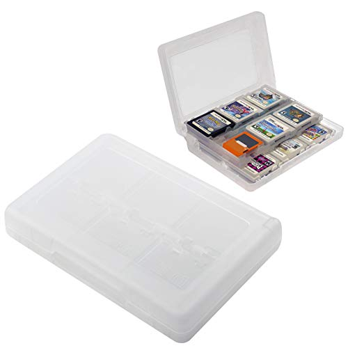 HDE 3DS Game Card Case for Nintendo 3DS 2DS DS Games Clear Protective 24-in-1 Storage Organizer Holder Box