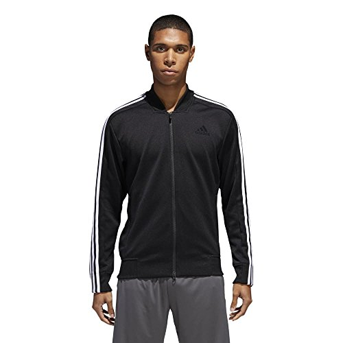 adidas Men's Sport ID Track Bomber Jacket Black/White Medium by adidas (Image #2)