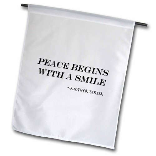 """3dRose fl_164000_2 """"Peace Begins with A Smile, Mother Ter..."""