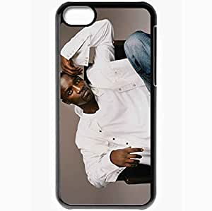 Personalized iPhone 5C Cell phone Case/Cover Skin Akon singer songwriter jeans Music Black