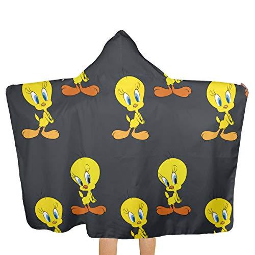 - REECEWE Tweety Bird Big Beach Towel with Hood & Baby Bath Towel, Quick Drying Beach Towel for Swim Pool Super Absorbent for Kids Boys Girls