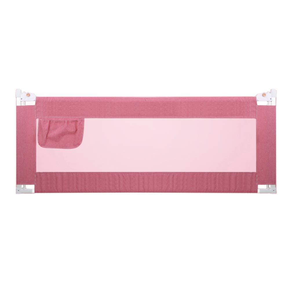 ベッドフェンス, 子供のためのピンクのポータブルベッドレール、子供のための安全ベビーベッド用の垂直レールエレベーターベビーガード - 90cm超高 (サイズ さいず : 200cm) 200cm  B07L6HDVYS