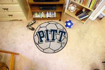 Fanmats Home Decorative Accessories University of Pittsburgh Collage Sports Team Logo Soccer Ball Shape Design Floor matt by FanMats