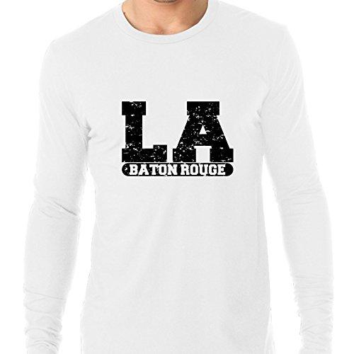 Baton Rouge, Louisiana LA Classic City State Sign Men's Long Sleeve T-Shirt -