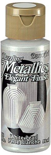 Metallic White Paint (DecoArt Dazzling Metallics 2-Ounce White Pearl Acrylic Paint)