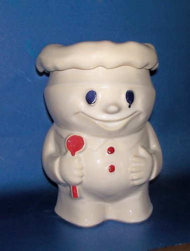 Photo VINTAGE MCCOY BOBBY BAKER PILLSBURY DOUGHBOY COOKIE JAR