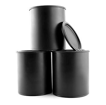black plastic paint cans 3 pack quart size cans for paints
