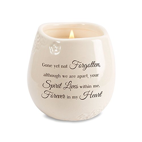 - Pavilion - Gone Yet Not Forgotten, Although We are Apart, Your Spirit Lives Within Me, Forever in My Heart 8 oz Soy Filled Ceramic Vessel Candle