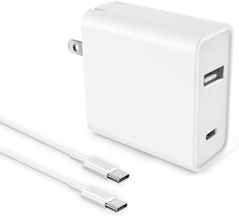 IBERLS 55W USB C(Type-C) PD Wall Fast Charger, Station with 45W Power Delivery Port and 5V 2A USB Charger Port, with Quick Charge 3.0/ PD 3.1, Compatible with Most Notebooks, Mobile Phones Adapter