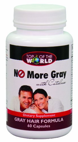 Top of the World No More Gray with Catalase, Gray Hair Formula,  60 Capsules