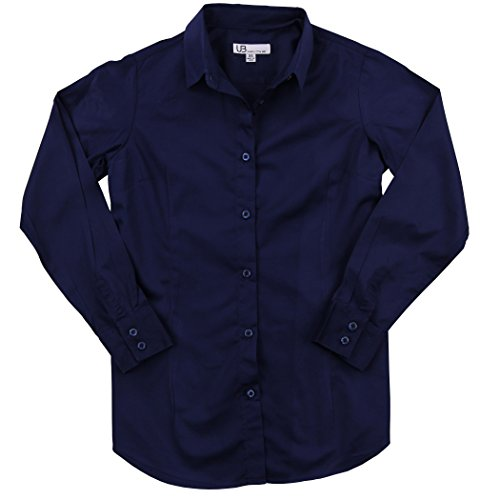 Navy Blue Button Down Shirt - 7