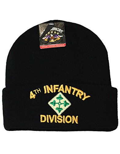 [US Military Beanie Hat Official Licensed Headwear (4th Infantry Division)] (Hats 4 U)