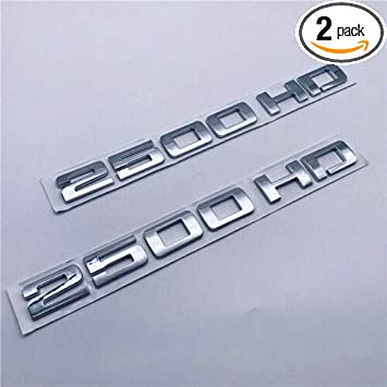 2pcs Replacement 2500HD 2500 HD Nameplates Emblems Badges for Gm Silverado Sierra Red