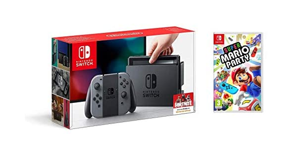 Nintendo Switch - Consola, Color Gris + Super Mario Party: Amazon ...