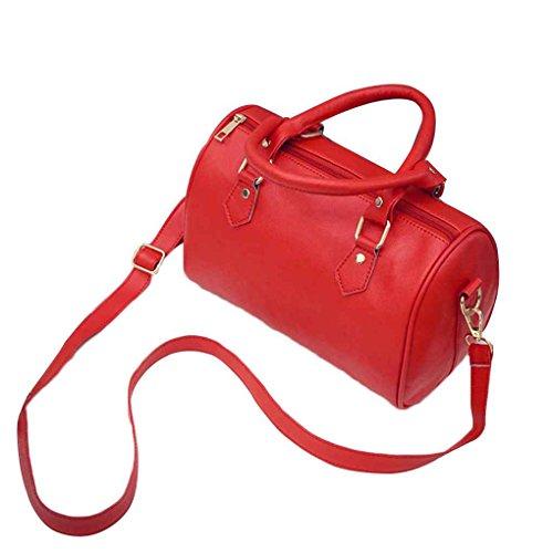 Mengonee Shoulder Bag Fashion Bag Pure Color Ladies Casual Women Shoulder Bag Elegant Shoulder Bag Red Honda