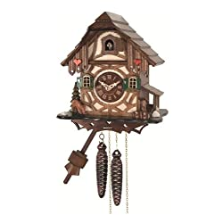 Quartz Cuckoo Clock Black forest house EN 413 Q