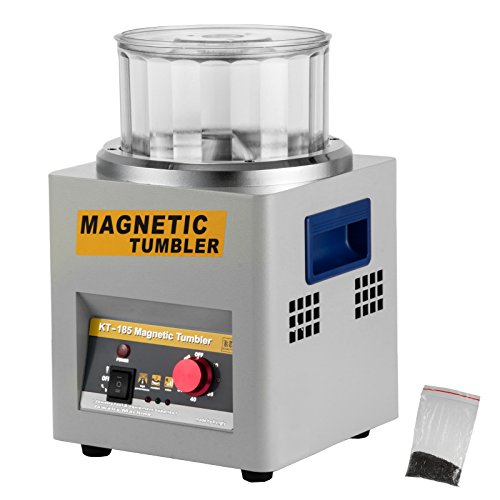 BestEquip KT-185CGT00000001V1 Tumbler 2000 RPM Finisher 7.3 inch Magnetic Polisher with Adjustable Speed for Jewelry (KT185)
