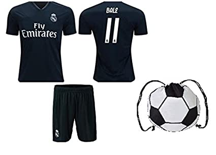 purchase cheap 03595 e1576 Fan Kitbag Real Madrid Modric #10 / Bale #11 Youth Soccer Jersey Home/Away  Short Sleeve Kit Shorts Kids Gift Set