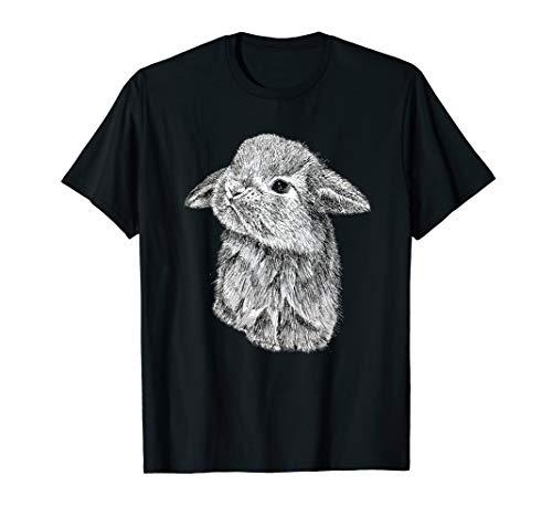Cute Lop Eared Bunny Rabbit Sketch T-Shirt (Intel Bunny)