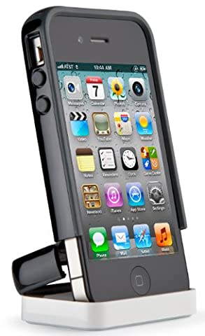 Speck Products CandyShell Flip Case for iPhone 4/4S - 1 Pack - Carrying Case - Black/Dark Grey (Speck Iphone 4s Phone Case)