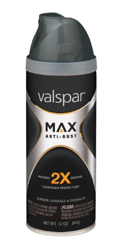 Valspar  MAX Gloss Gray Anti-Rust Spray Paint - 12 oz.,