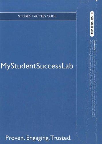NEW MyStudentSuccessLab 3.0 -- Access Card