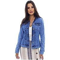 Jaqueta Jeans Sob Básica Azul Clara com Elastano