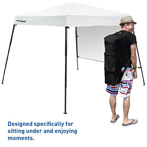 Portable Backpack Tent - 7'x7' Base with 6'x6' Awning Top – Lightweight for Hiking, Camping, Beach, Sports, Baby Tent and Family Outings - Pop Up Canopy by EasyGoProducts